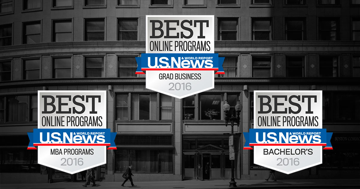 U.S. News & World Report Recognizes New England College of Business Online Programs
